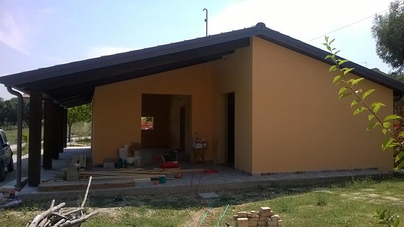 La casa e' pronta per le finiture interne ed esterne