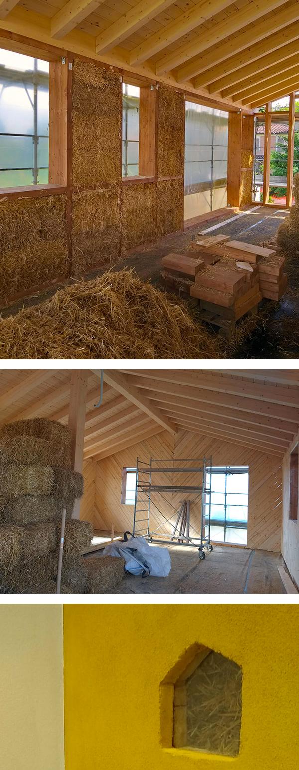 Case in legno e paglia